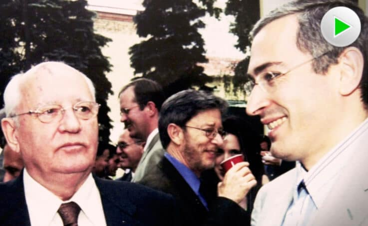 Michail Sergejewitsch Gorbatschow (links) und Michail Borissowitsch Chodorkowski (Oligarch)