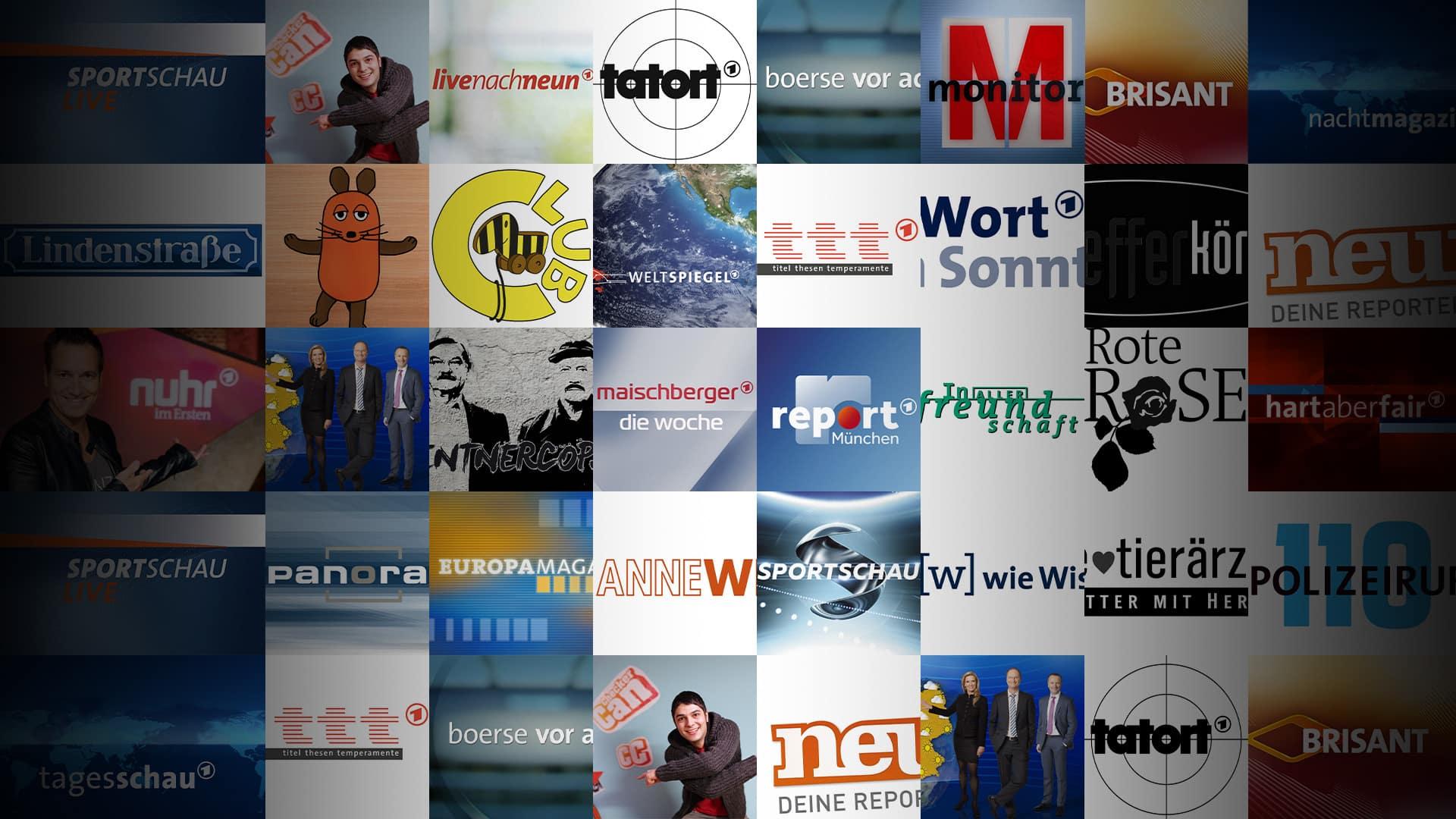 Bekannte Sendungen in der ARD