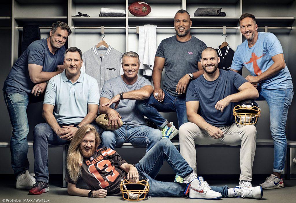 Das ProSieben NFL Super Bowl Team präsentiert sich