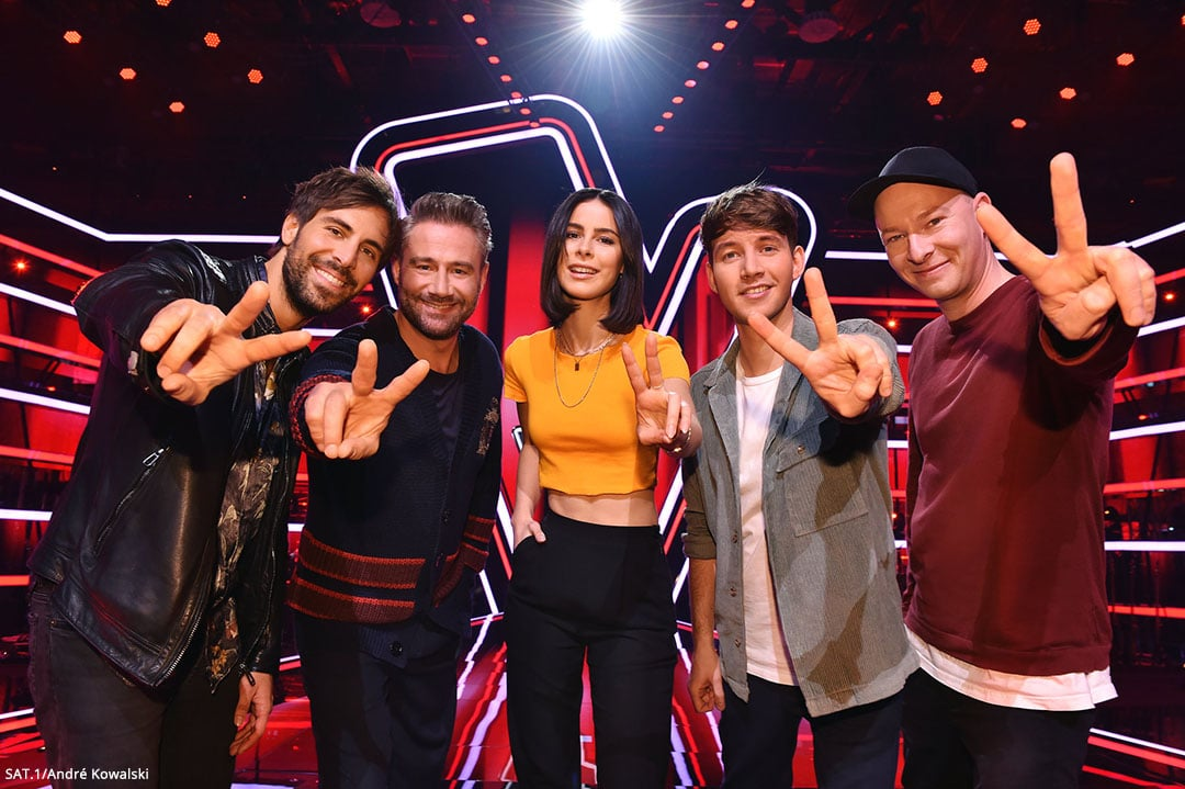 The komplette The Voice Kids Jury