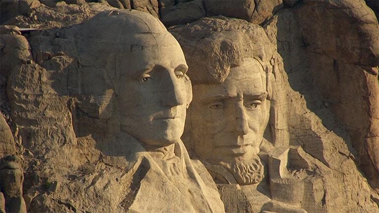 Das Mount Rushmore National Gedenkmal in South Dakota