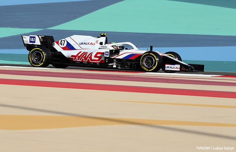 Mick Schumacher fährt im Formel 1 Auto von Haas F1
