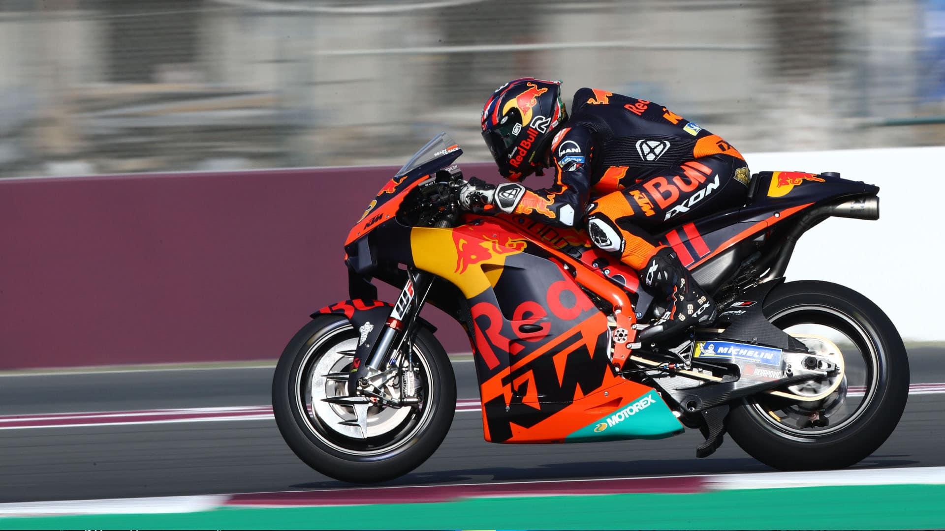 Brad Binder beim MotoGP Test in Katar am 7. März