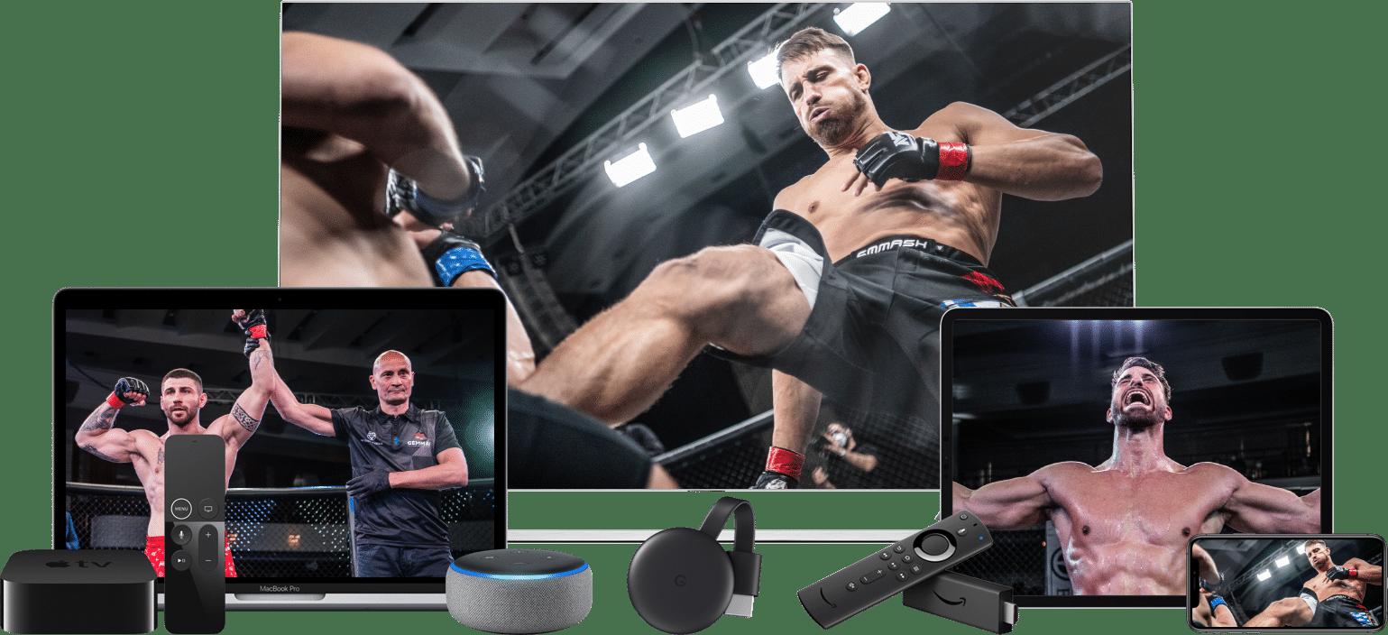 fight24 auf allen Geräten streamen