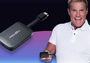 Dieter Bohlen hält den waipu.tv 4K Stick in seiner Hand