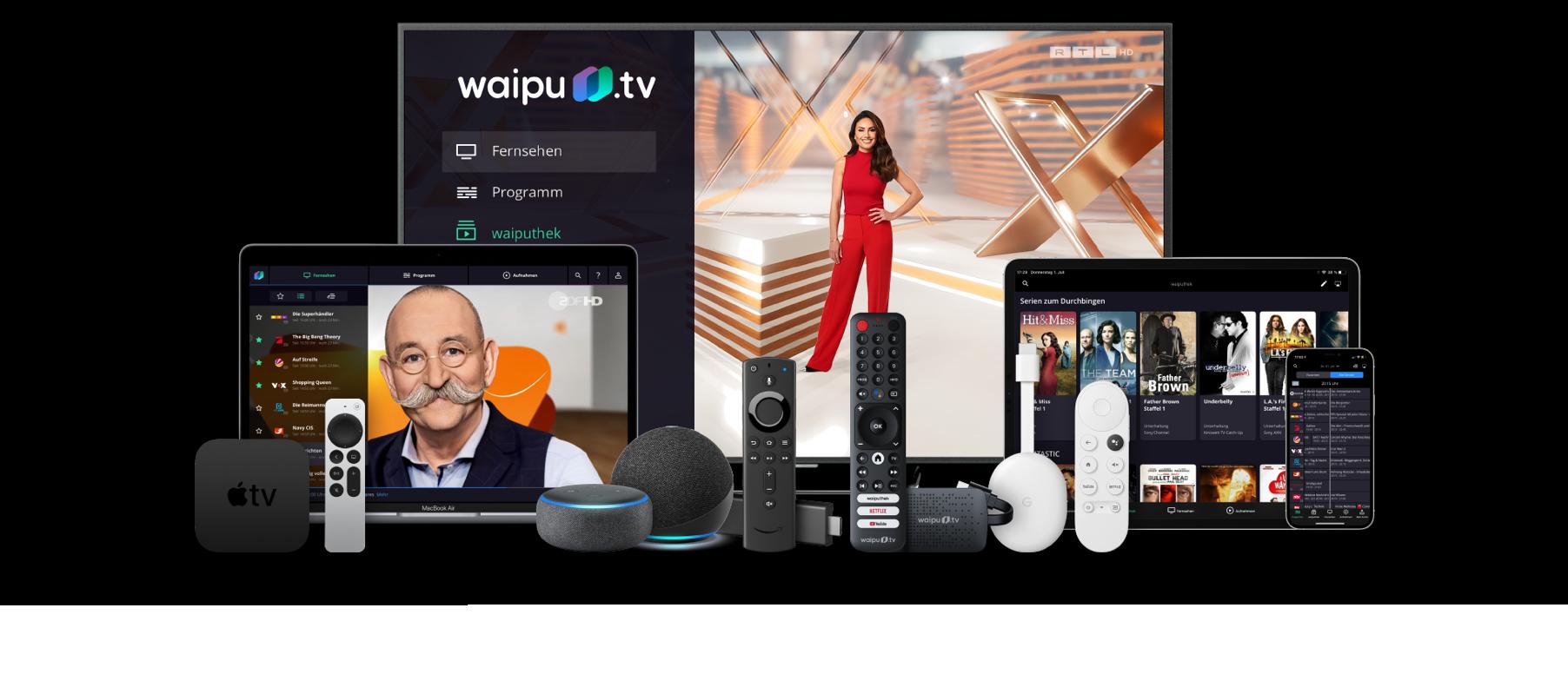 Die neue Gerätefamilie von waipu.tv